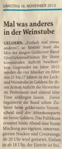 Niederrhein Nachrichten vom 16.11.2013